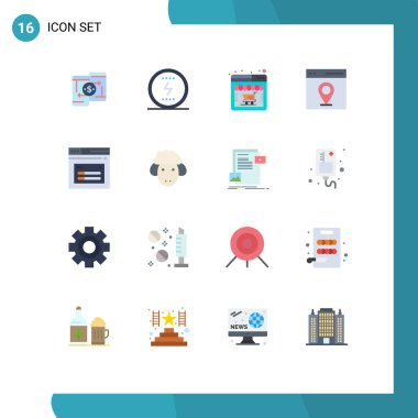 Universal Icon Symbols Group of 16 Modern Flat Colors of user, interface, seo, communication, web Editable Pack of Creative Vector Design Elements icon
