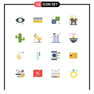 16 Creative Icons Modern Signs and Symbols of finance, bank, interface, play, game Editable Pack of Creative Vector Design Elements icon
