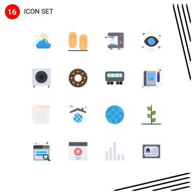 16 Creative Icons Modern Signs and Symbols of bass, view, coffee, search, eye Editable Pack of Creative Vector Design Elements icon
