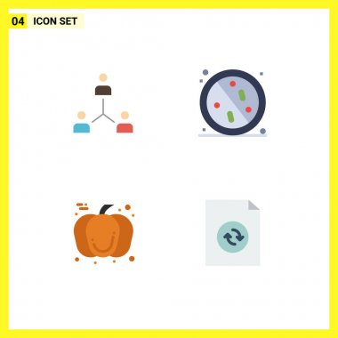 User Interface Pack of 4 Basic Flat Icons of structure, antibacterial, group, team, healthy Editable Vector Design Elements icon