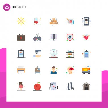 Stock Vector Icon Pack of 25 Line Signs and Symbols for pencil, sketch, cubes, art, play Editable Vector Design Elements icon
