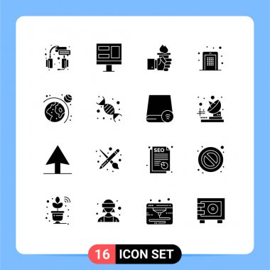 Stock Vector Icon Pack of 16 Line Signs and Symbols for pin code, mobile, business, code, olympic Editable Vector Design Elements icon