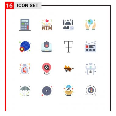 16 Creative Icons Modern Signs and Symbols of world, global, pray, finance, guarder Editable Pack of Creative Vector Design Elements icon