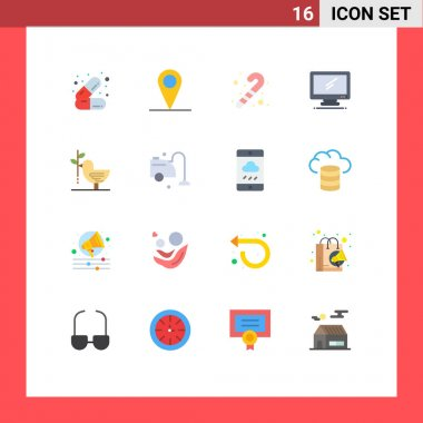 16 Creative Icons Modern Signs and Symbols of friendship, agreement, toy, pc, device Editable Pack of Creative Vector Design Elements icon