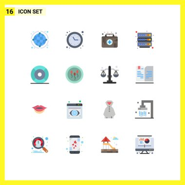 Stock Vector Icon Pack of 16 Line Signs and Symbols for essential, server, time optimization, rack, medical emergency Editable Pack of Creative Vector Design Elements icon