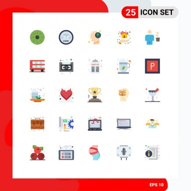 Stock Vector Icon Pack of 25 Line Signs and Symbols for shelter, home, programming, hand, power Editable Vector Design Elements icon