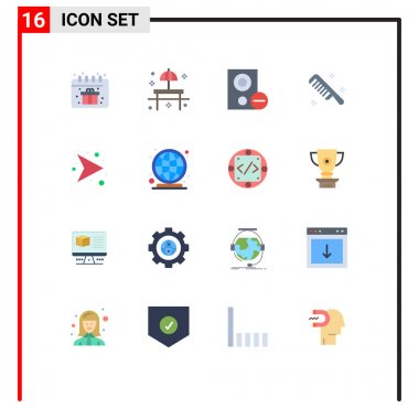16 Creative Icons Modern Signs and Symbols of arrows, cosmetic, computers, comb, remove Editable Pack of Creative Vector Design Elements icon