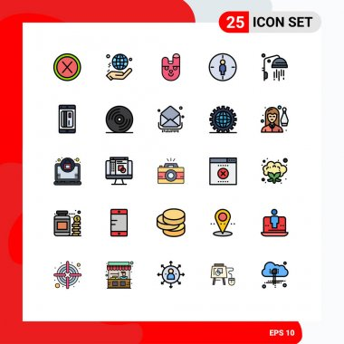 Stock Vector Icon Pack of 25 Line Signs and Symbols for target, male, world, man, face Editable Vector Design Elements icon