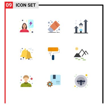Stock Vector Icon Pack of 9 Line Signs and Symbols for brush, christmas, man, bells, career Editable Vector Design Elements icon