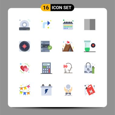 Stock Vector Icon Pack of 16 Line Signs and Symbols for cd, calendar, internet, up, schedule Editable Pack of Creative Vector Design Elements icon