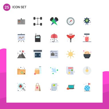 Stock Vector Icon Pack of 25 Line Signs and Symbols for award, compass, vehicles, direction, top Editable Vector Design Elements icon
