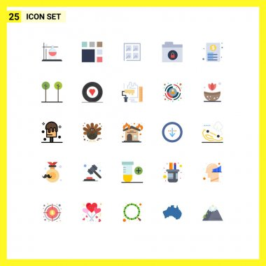 Stock Vector Icon Pack of 25 Line Signs and Symbols for paper, file, window, document, folder Editable Vector Design Elements icon