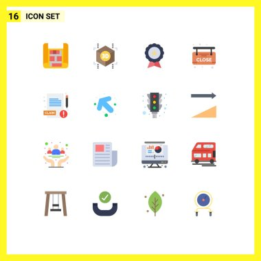 Stock Vector Icon Pack of 16 Line Signs and Symbols for arrow, report, finance, medical, board Editable Pack of Creative Vector Design Elements icon