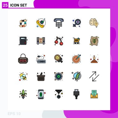 Stock Vector Icon Pack of 25 Line Signs and Symbols for gender, phone, ok, device, communication Editable Vector Design Elements icon