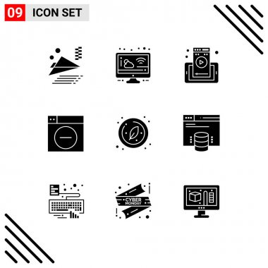 Stock Vector Icon Pack of 9 Line Signs and Symbols for research, biology, mobile, minimize, design Editable Vector Design Elements