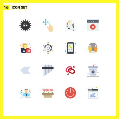 Universal Icon Symbols Group of 16 Modern Flat Colors of cooperation, learning, paint, education, mac Editable Pack of Creative Vector Design Elements icon