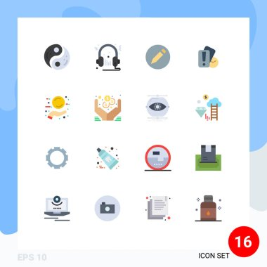 16 Creative Icons Modern Signs and Symbols of new, holding, multimedia, hand, text Editable Pack of Creative Vector Design Elements icon