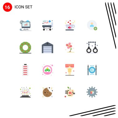 Stock Vector Icon Pack of 16 Line Signs and Symbols for analytics, coffee, web, hospital, love Editable Pack of Creative Vector Design Elements icon