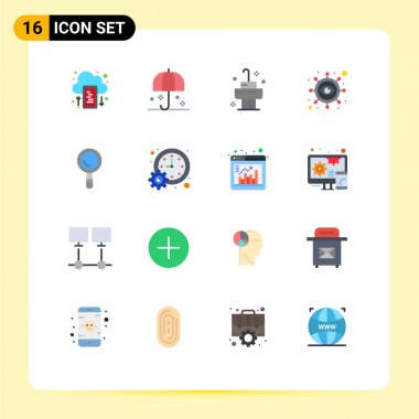 Stock Vector Icon Pack of 16 Line Signs and Symbols for construction, vision, sunshade, marketing, business Editable Pack of Creative Vector Design Elements icon