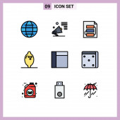 9 Creative Icons Modern Signs and Symbols of grid, fruit, promote, food, strategy Editable Vector Design Elements