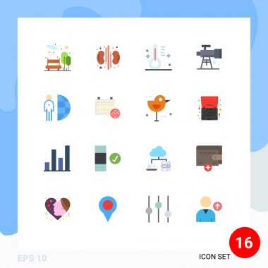 16 Creative Icons Modern Signs and Symbols of internet, telescope, cloudy, space, astronomy Editable Pack of Creative Vector Design Elements icon