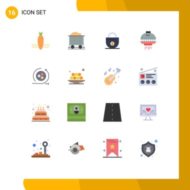 Pictogram Set of 16 Simple Flat Colors of api, ufo, business, spacecraft, space Editable Pack of Creative Vector Design Elements