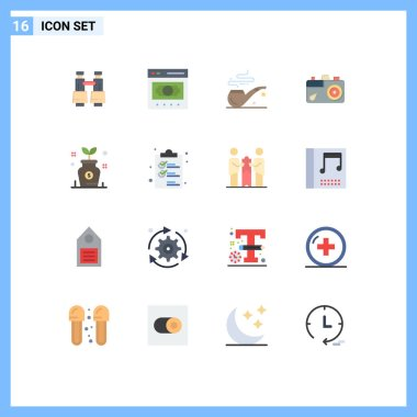 16 Creative Icons Modern Signs and Symbols of growth, picture, online, image, camera Editable Pack of Creative Vector Design Elements icon