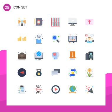 Stock Vector Icon Pack of 25 Line Signs and Symbols for device, computer, draw, recovery, statistics Editable Vector Design Elements icon