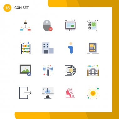 Stock Vector Icon Pack of 16 Line Signs and Symbols for management, business, devices, screen, content Editable Pack of Creative Vector Design Elements icon