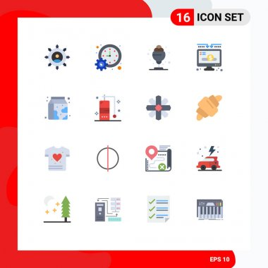 Universal Icon Symbols Group of 16 Modern Flat Colors of donate, donation, schedule, charity, summer Editable Pack of Creative Vector Design Elements icon