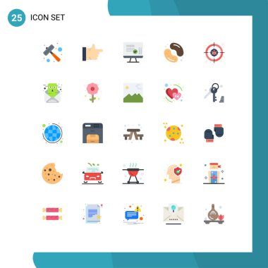 Stock Vector Icon Pack of 25 Line Signs and Symbols for cyber, jelly been, screen, sweets, dessert Editable Vector Design Elements icon
