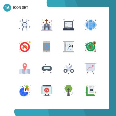 16 Creative Icons Modern Signs and Symbols of science, information, computer, database, notebook Editable Pack of Creative Vector Design Elements icon