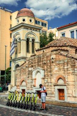 Impressions of monastiraki square in Athens, Greece