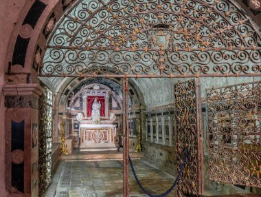 Internal of the Cathedral of Santa Maria Assunta in the Little Village Gerace in Southern Italy