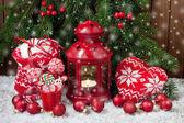 Vánoční složení s Dovolená dekorace