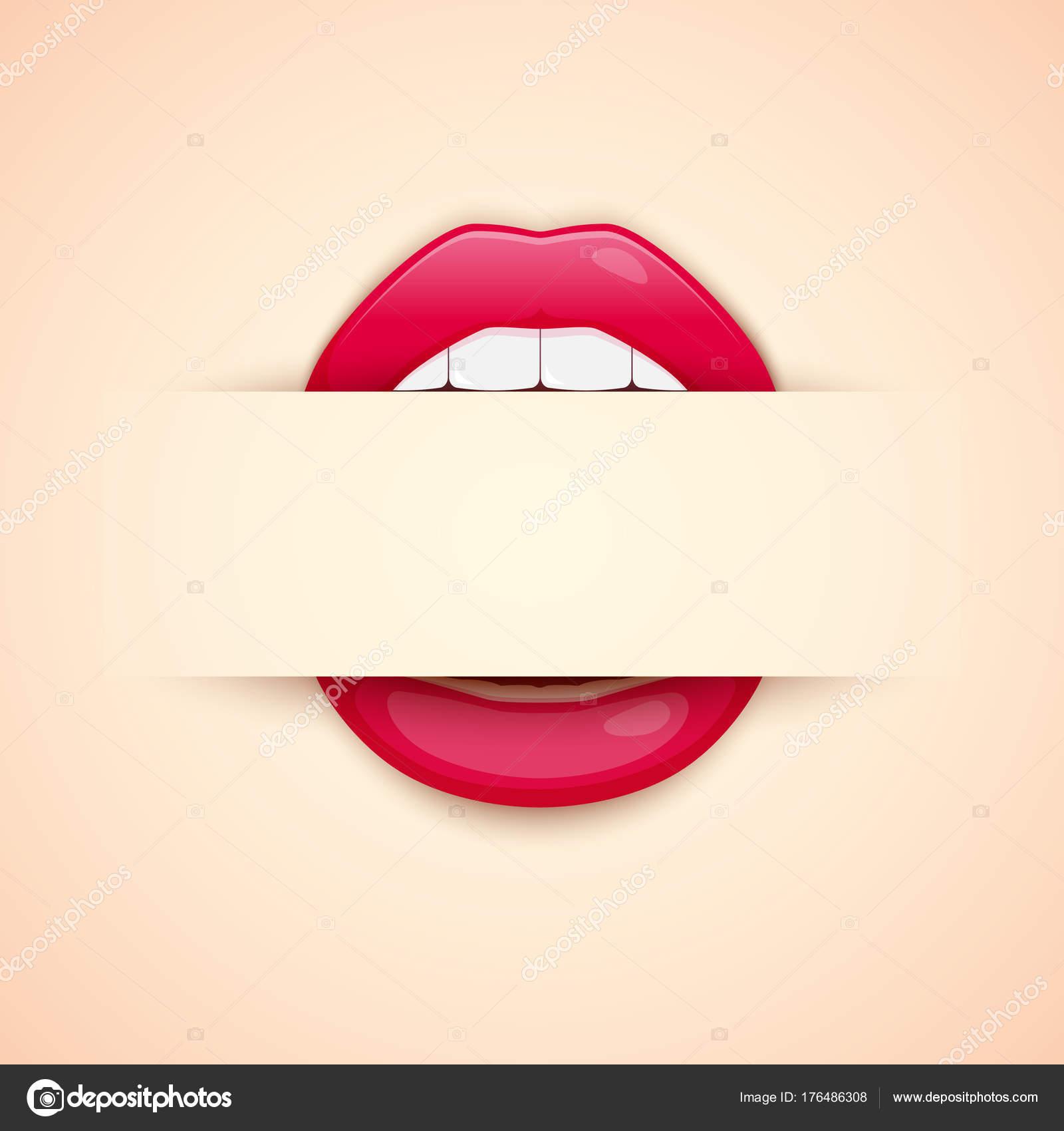 губы визитка шаблоны