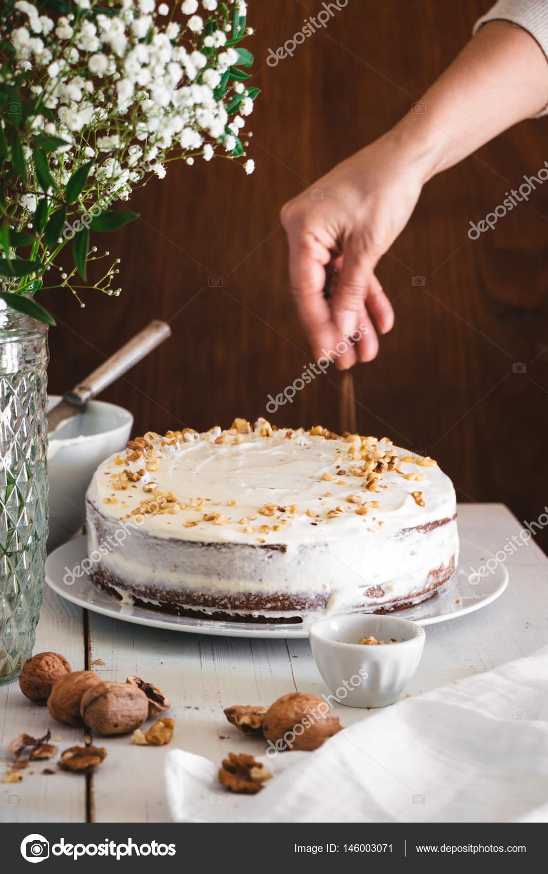 Karotte Kuchen Dekorieren Stockfoto C Asife 146003071