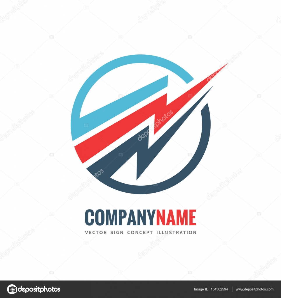 electronic technology vector logo template concept