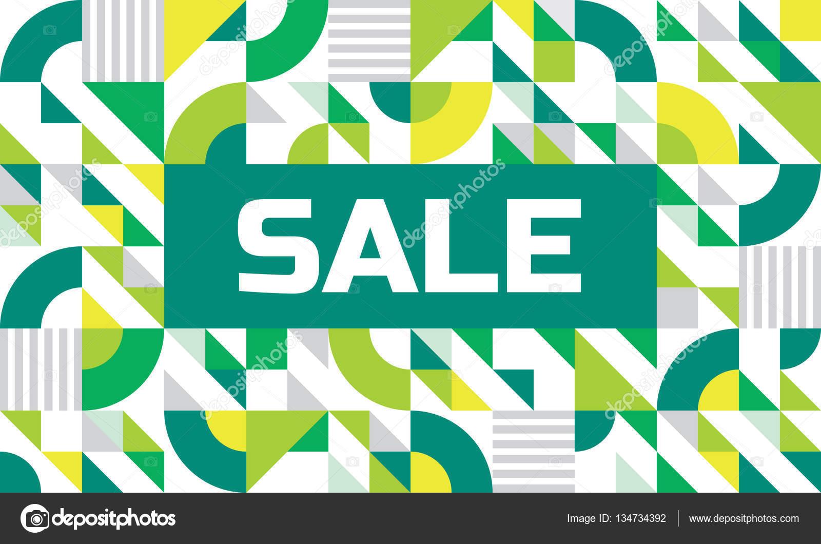 Schon Verkauf   Abstrakte Geometrische Banner. Hintergrund Konzept Vektorgrafik  In Grünen Farben. Design Layout U2014 Vektor Von Serkorkin
