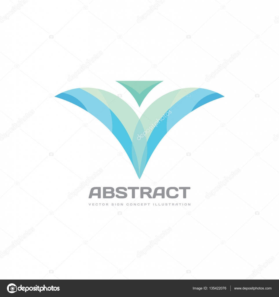 abstract petals vector logo template concept illustration flower