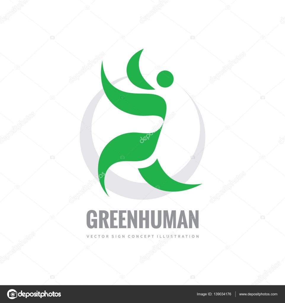 Carácter humano - vector logo plantilla concepto ilustración de ...