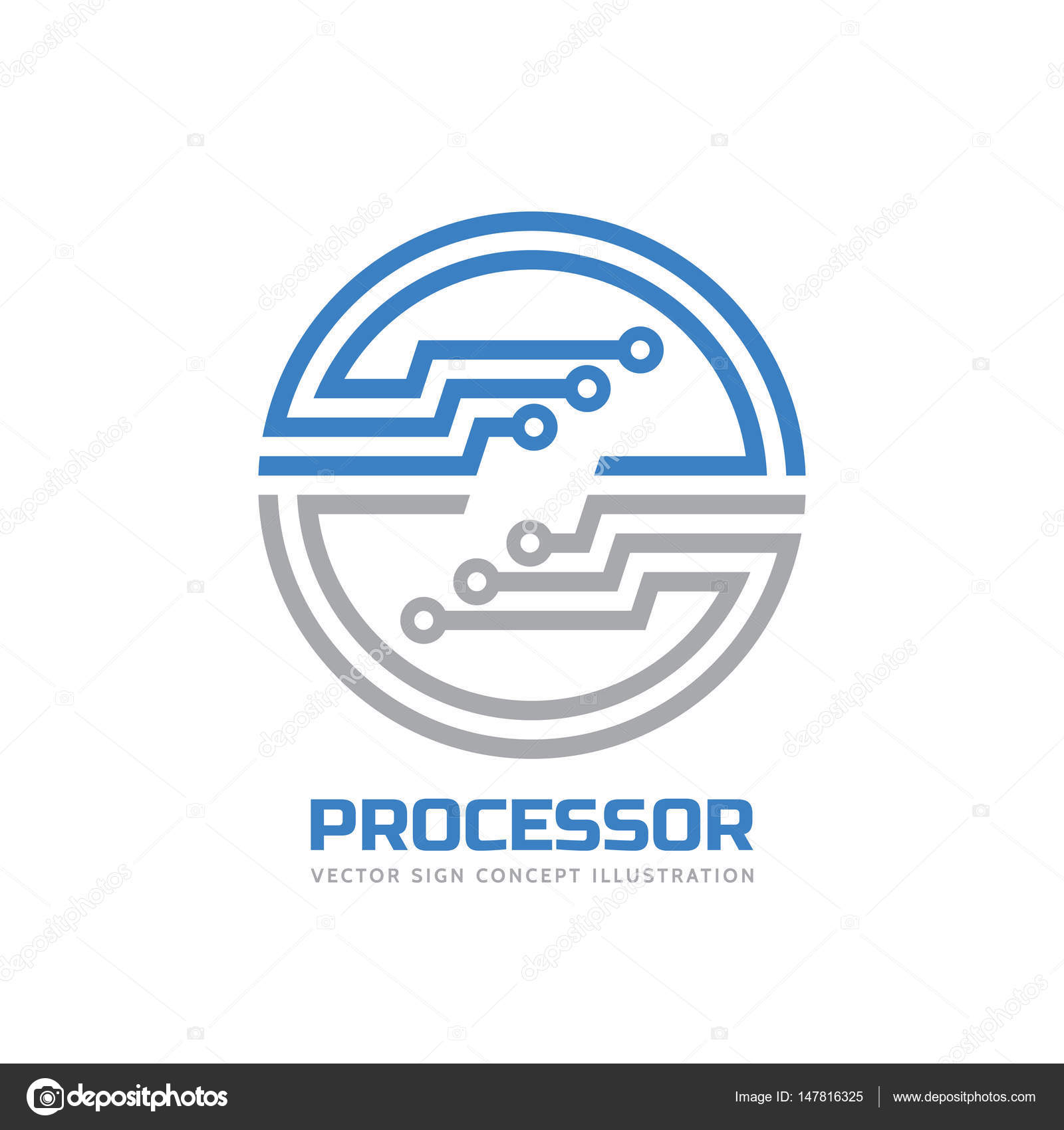 processor cpu vector logo template for corporate identity abstract computer chip sign network internet technology concept illustration design element stock vector c serkorkin 147816325 https depositphotos com 147816325 stock illustration processor cpu vector logo template html