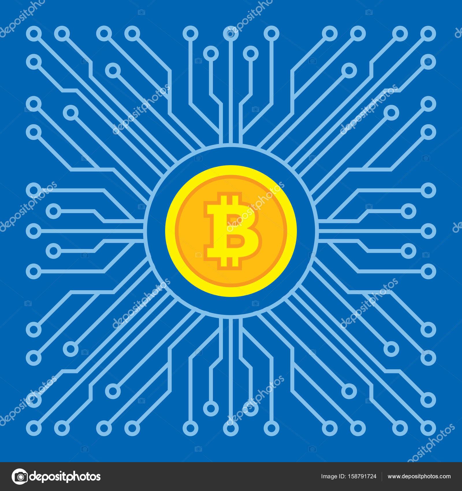 Bitcoin blockchain tecnologia moderna ilustrao vetorial criativo bitcoin blockchain tecnologia moderna ilustrao vetorial criativo smbolo de conceito de dinheiro digital cryptocurrency ccuart Choice Image