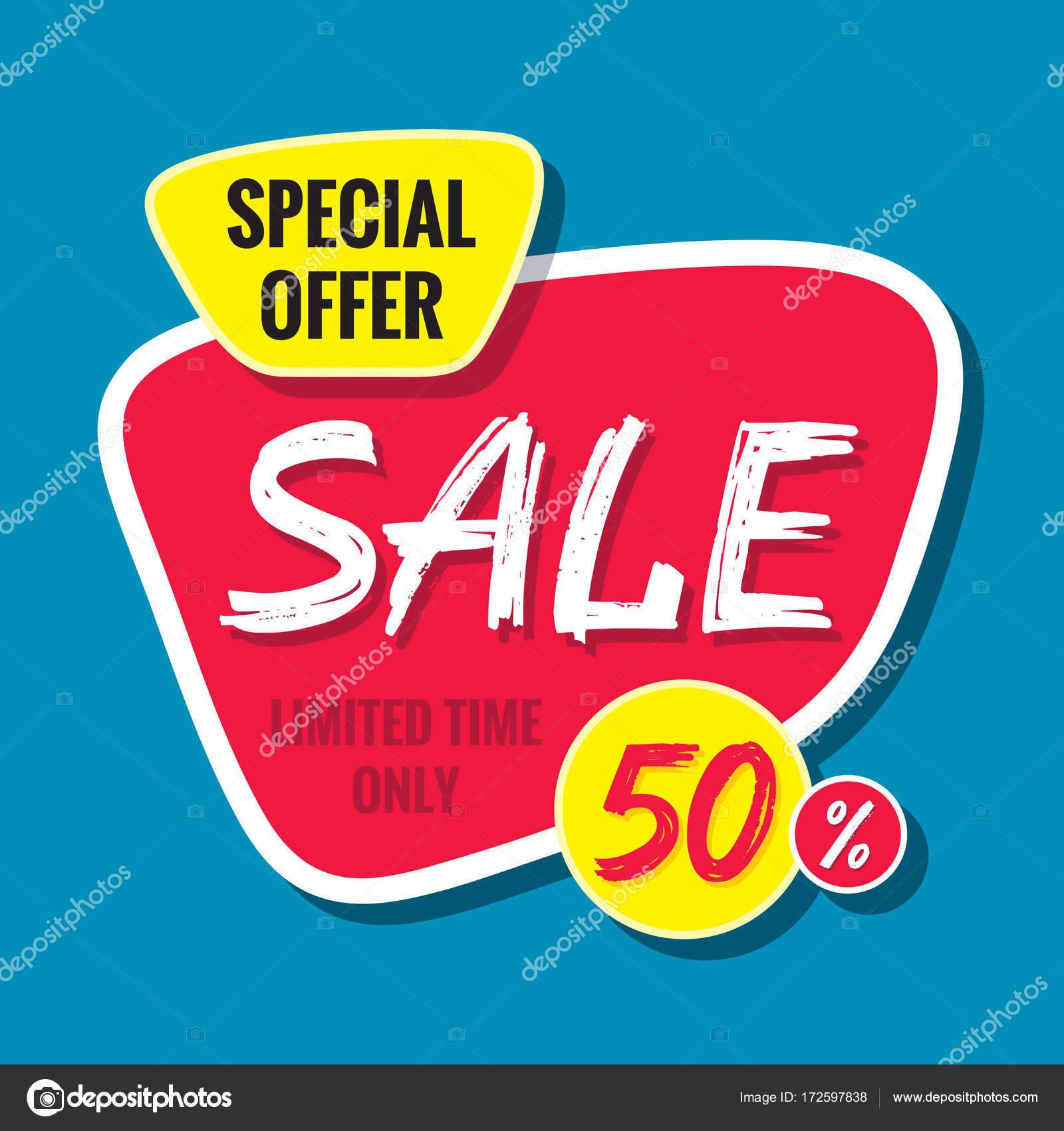 Plantilla de venta vector banner - oferta 50% - había limitado ...