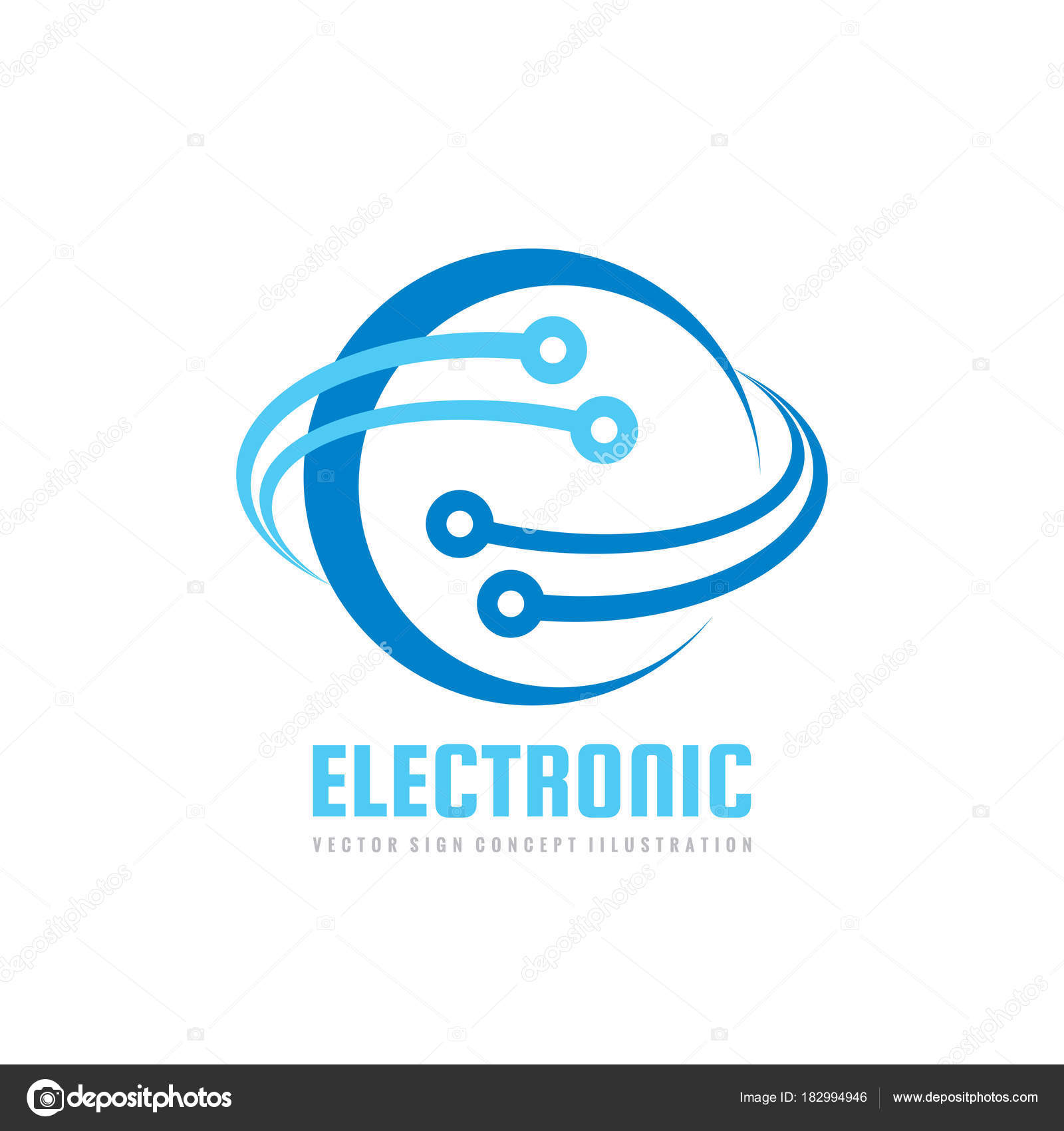 Electronic Technology Vector Logo Template Corporate Identity ...