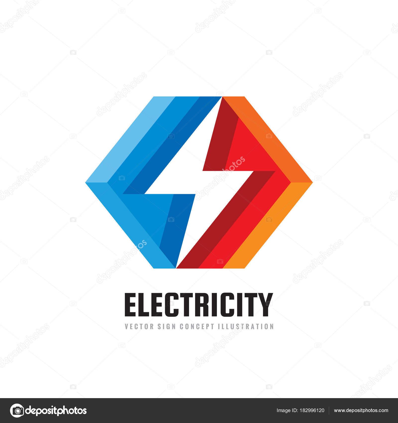 lightning vector business logo template concept illustration