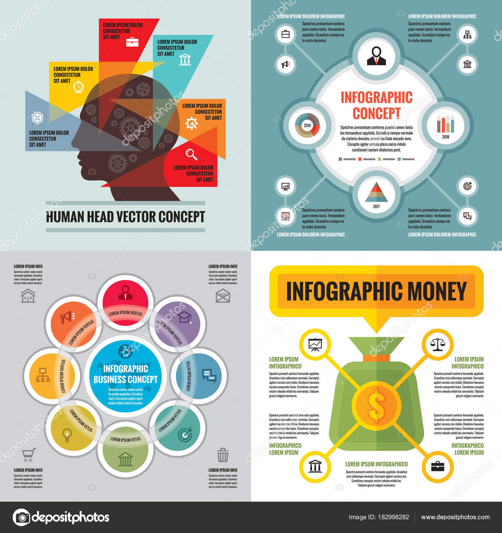 Infographic elements template business concept banners presentation infographic elements template business concept banners presentation brochure website other stock vector cheaphphosting Images