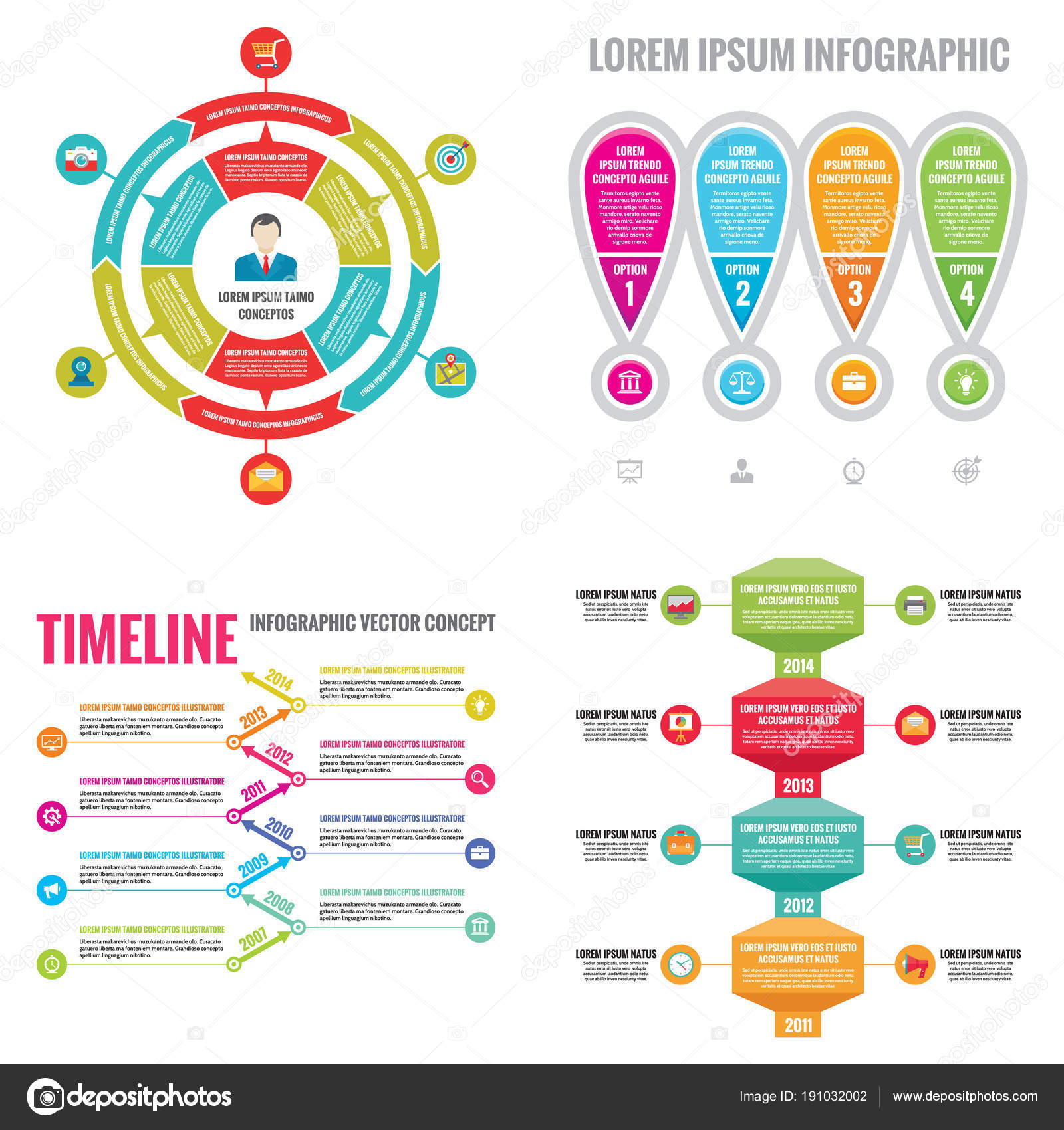 Geschäft Infografik Vorlagen Konzept Vektor Illustration Abstrakte ...