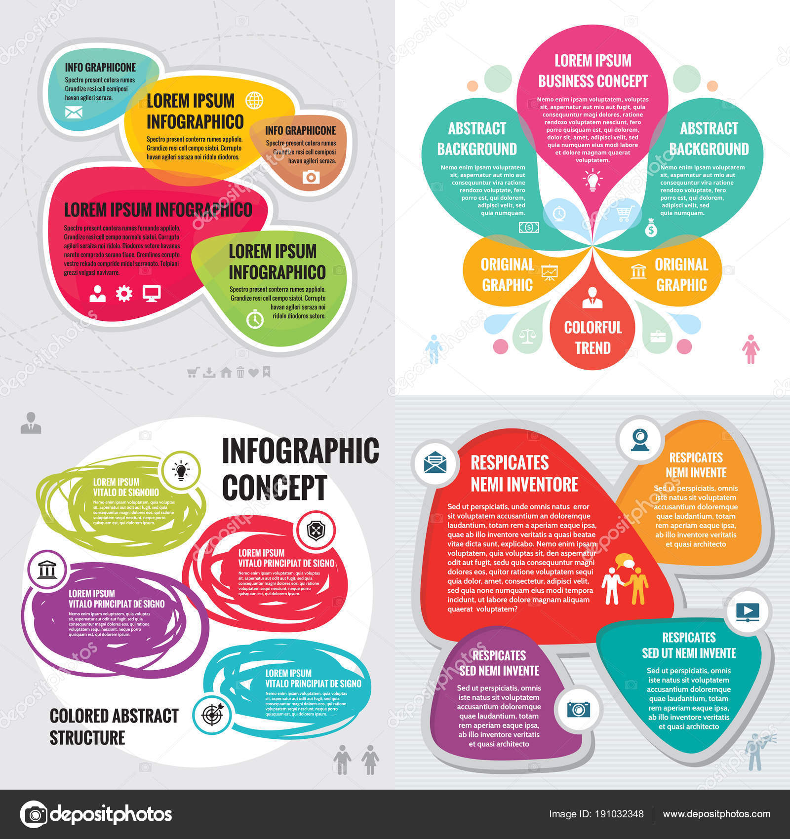 Negocios Infografía Plantillas Concepto Vector Ilustración Banner ...