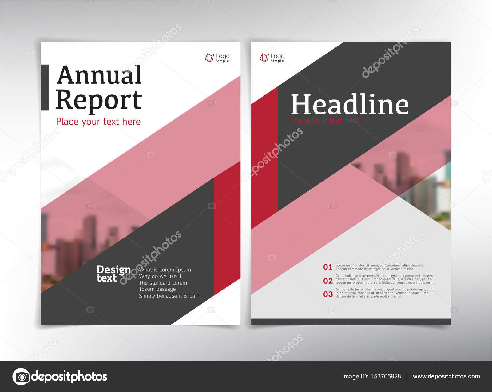 modern business cover pages vector template stock vector